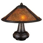 Meyda Tiffany Rustic Van Erp Amber Mica 14'' H Table Lamp with Bowl Shade