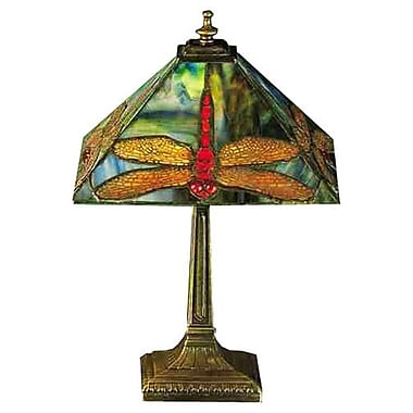 Meyda Tiffany Mission Prairie Dragonfly 15.5'' Table Lamp
