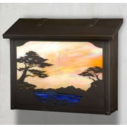America's Finest Mailboxes Monterey Cypress Wall Mounted Mailbox