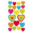 Jillson & Roberts Bulk Roll Prismatic Assorted Heart Sticker