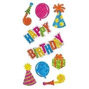 Jillson & Roberts Bulk Roll Prismatic Happy Birthday Sticker