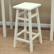 Carolina Cottage O'Malley 30'' Bar Stool; Antique White