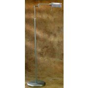 Lite Source Pharma Adjustable Arm Floor Lamp; Stainless Steel