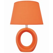 Lite Source Bellona 17'' H Table Lamp with Empire Shade; Orange