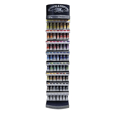 Winsor newton winton oil color paint display assortments for Oil paint colors names