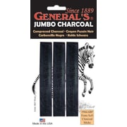 General Jumbo Charcoal 6B Stick (Set of 3)