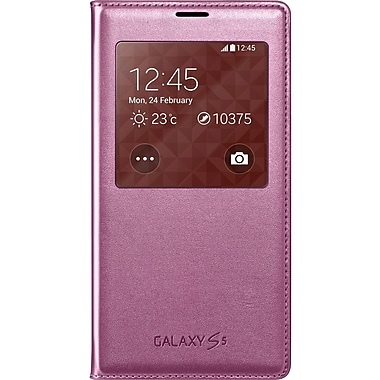 Samsung S-View Cover Carrying Case For Samsung Galaxy S5, Pink