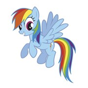 """RoomMates 30.4"""" x 25.8"""" Rainbow Dash Peel and Stick Giant Wall Decals"""