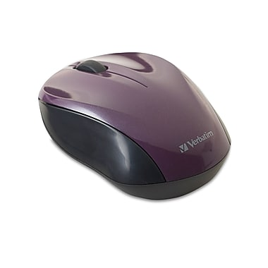 Verbatim® Nano Wireless Notebook Optical Mouse, Purple