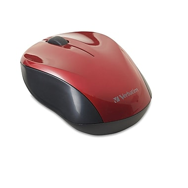 Verbatim® Nano Wireless Notebook Optical Mouse, Red