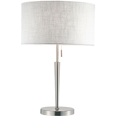 Adesso® Hayworth 150 W Table Lamp, Satin Steel