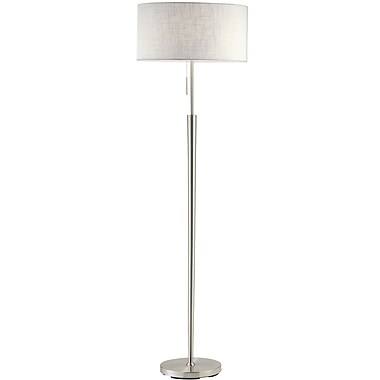 Adesso® Hayworth 150 W Floor Lamp, Satin Steel