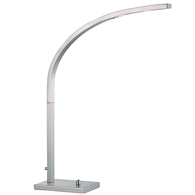 Adesso® Sonic 8 W LED Desk Lamp, Satin Steel