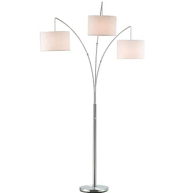 Adesso® Trinity 180 W Arc Lamp, Satin Steel
