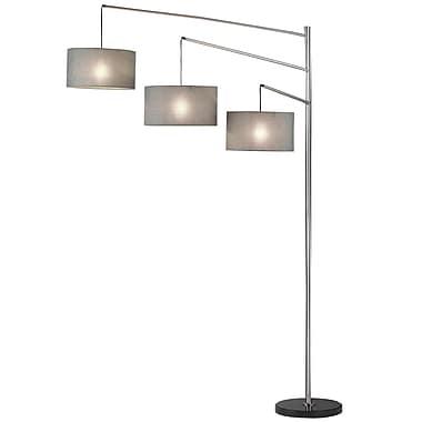 Adesso® Wellington 100 W Arc Lamp, Satin Steel