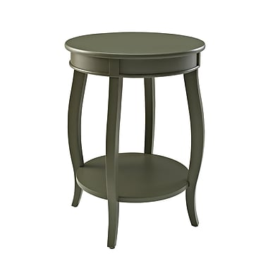 Powell Furniture Round Table with Shelf 24