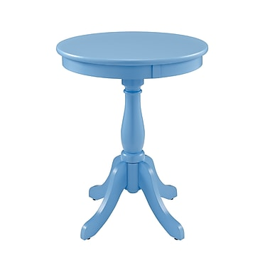 Powell Wood/Veneer Accent Table, Blue, Each (254-352)