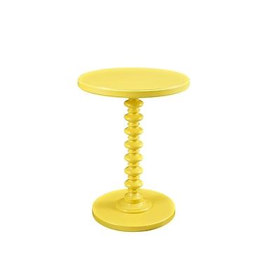 Powell Spindle Wood/Veneer Pedestal Table, Yellow, Each (256-269)