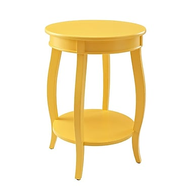 Powell Wood/Veneer Accent Table, Yellow, Each (256-350)
