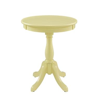 Powell Wood/Veneer Pedestal Table, Yellow, Each (256-352)