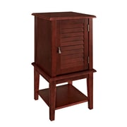 Powell Shutter Door Wood/Veneer Accent Table, Red, Each (286-351)