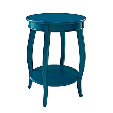 Powell Wood/Veneer Accent Table, Blue, Each (287-350)