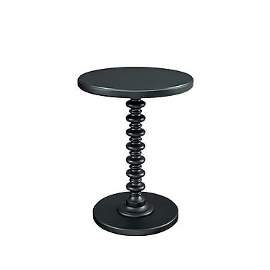 Powell Spindle Wood/Veneer Pedestal Table, Black, Each (502-410)