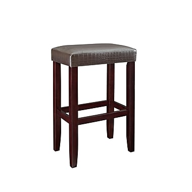Powell Furniture Croc Faux Leather Barstool Brown