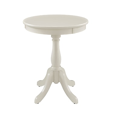 Powell Wood Pedestal Table, White, Each (929-711)