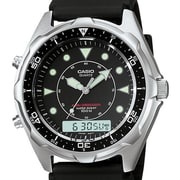 Casio® AMW320R-1EV Men's Analog/Digital Maine Gear Diver's Sports Wrist Watch, Black