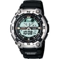 Casio® AQW100-1AV Men's Digital/Analog Forester Active Dial Sports Wrist Watch W/Resin Band, Black