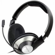 Creative® ChatMax HS-620 3.5 mm Connector Circumaural Gaming Headset For Chat,, Black/Silver