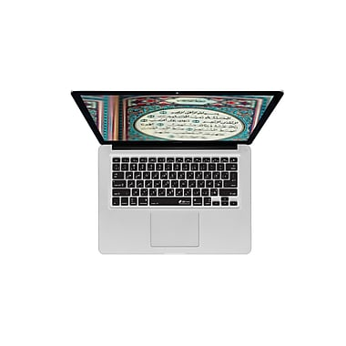 KB Covers Arabic PC Keyboard Cover For MacBook Air Pro, Black