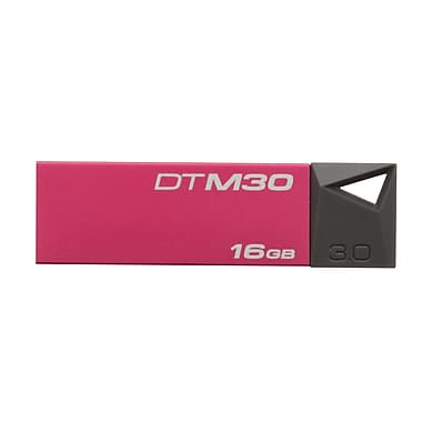 Kingston® DataTraveler Mini DTM30 16GB USB 3.0 Flash Drive, Red