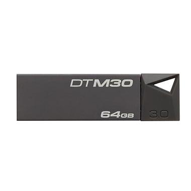 Kingston® DataTraveler Mini DTM30 64GB USB 3.0 Flash Drive, Grey