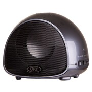 QFX BT-100 Rechargeable Portable Bluetooth Speaker With Microphone,  Gray