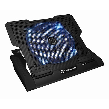 Thermaltake® Massive23 GT Notebook Cooler, 0.4in.(H) x 11.5in. (W) x 1.6in.(L), Black