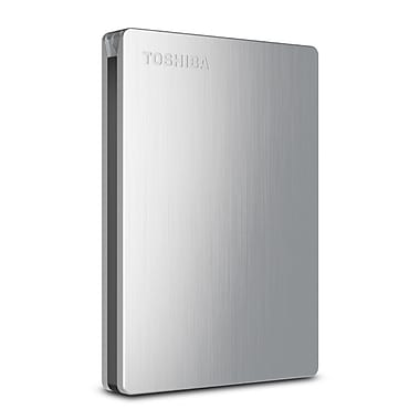 Toshiba Canvio® Slim II 500GB Portable USB 3.0 External Hard Drive For PC (Silver)
