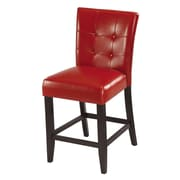 Modus Bossa 26'' Bar Stool  (Set of 2); Red