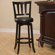 Hillsdale Presque Isle 29.5'' Swivel Bar Stool with Cushion; Black