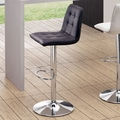 dCOR design Oxygen Adjustable Bar Stool; Black
