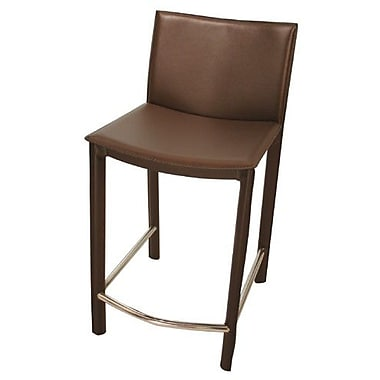 TFG Elston 24'' Bar Stool with Cushion; Brown