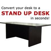 Home Concept 12'' H x 36'' W Standing Desk Conversion Unit; Dark Red Cocoa