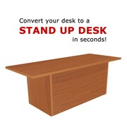 Home Concept Tall Portable Desk; Light Cherry