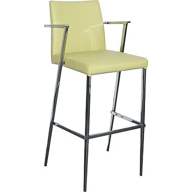 Bellini Modern Living Kingston 25'' Bar Stool with Cushion; Black