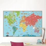 WallPops! Dry Erase Kids World Map Wall Mural