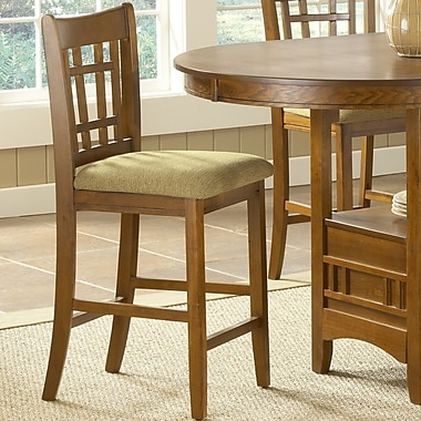 Bernards Randolph 24'' Bar Stool with Cushion (Set of 2)