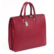 Claire Chase Sarita Leather Laptop Briefcase; Red