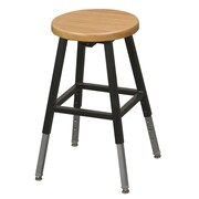 Balt Lab Adjustable Height Bar Stool; Black