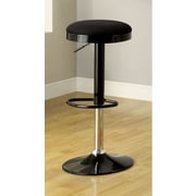 Hokku Designs Adjustable Height Bar Stool II (Set of 2); Black